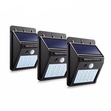 Светодиодный светильник на солнечной энергии, настенный светильник с датчиком движения, наружное украшение сада, лампа для лестничной дорожки, для двора, для безопасности, Водонепроницаемые огни