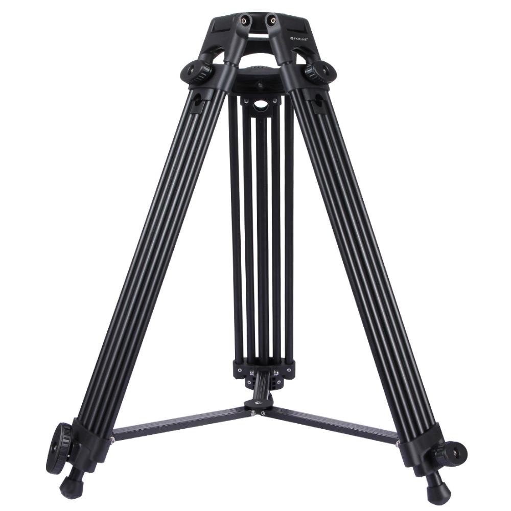 PULUZ Professional Heavy Duty Tripod Video Camera Camcorder Tripod Monopod Aluminum Alloy Tripod for Canon Sony DSLR SLR Camera