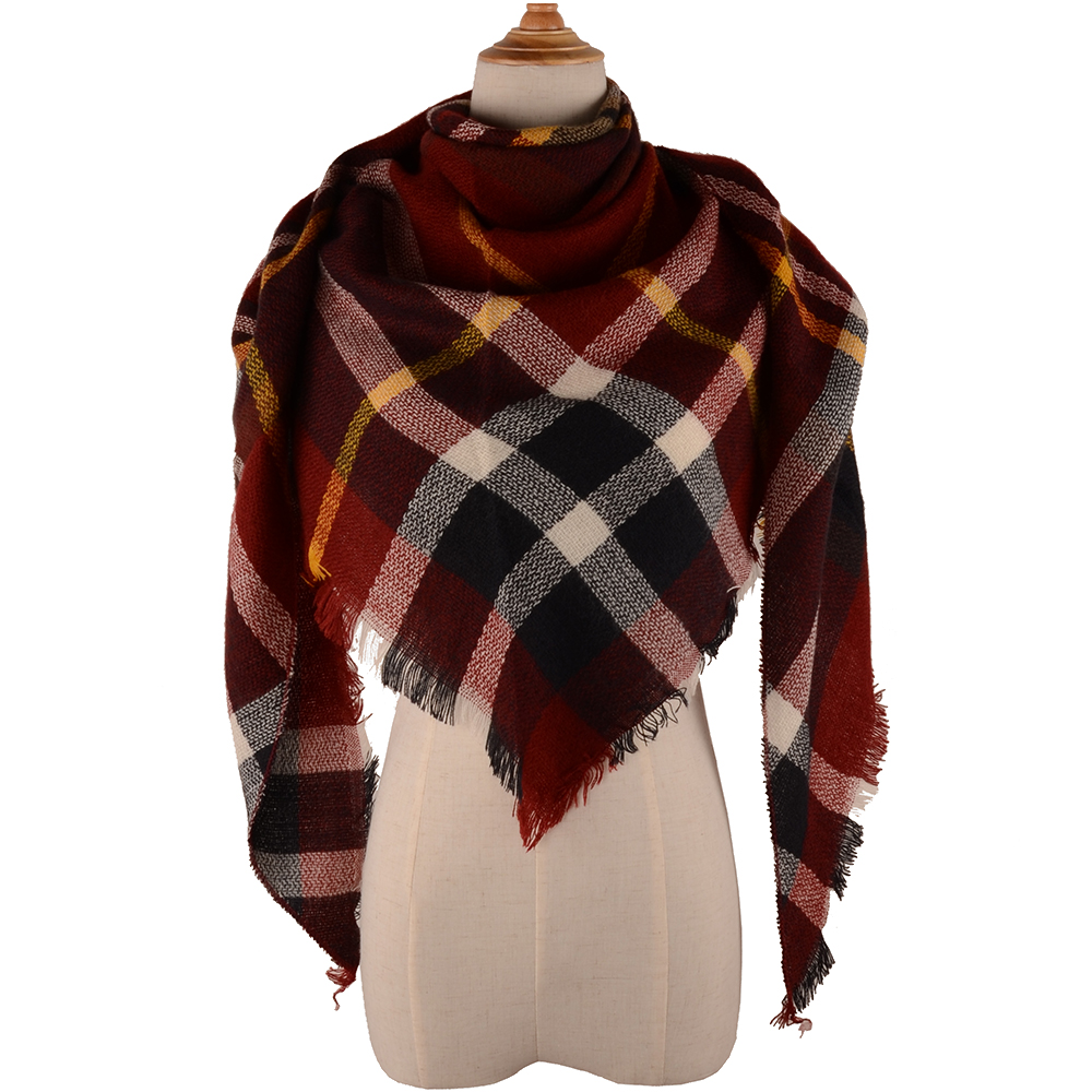 2017 Winter Brand Designer Triangle Scarf Women Shawl Cashmere S0001 Autumn Plaid Wool Scarves Blanket Wholesale Drop shipping