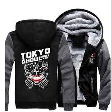 Invierno espesar con capucha anime de tokio ghoul kaneki ken cosplay chaqueta sudaderas escudo hombres mujeres top clothing