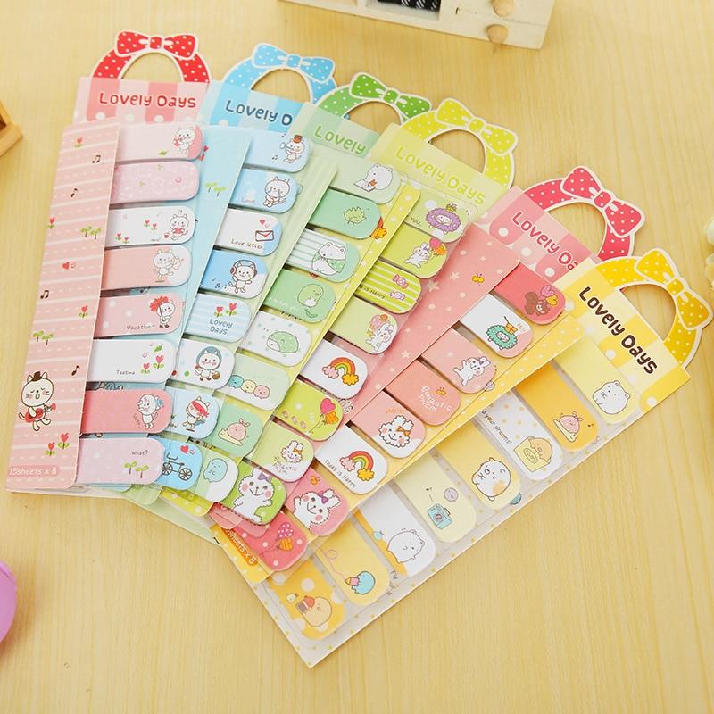Cartoon Animals Strip memo pad Paste paper sticker sticky notes kawaii stationery school office supplies