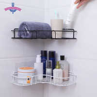 Bathroom Shelf Metal Shelf Storage Rack Stainless Steel Punch-Free Firm Shower Kitchen Fitted Wall Storage Organizer Rack