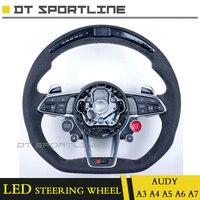 Обновления светодиодный руль Планки автомобилей спереди светодиодный гонки дисплей ЖК дисплей экран guage метр руль A3 A4 A5 A7 для audi a6