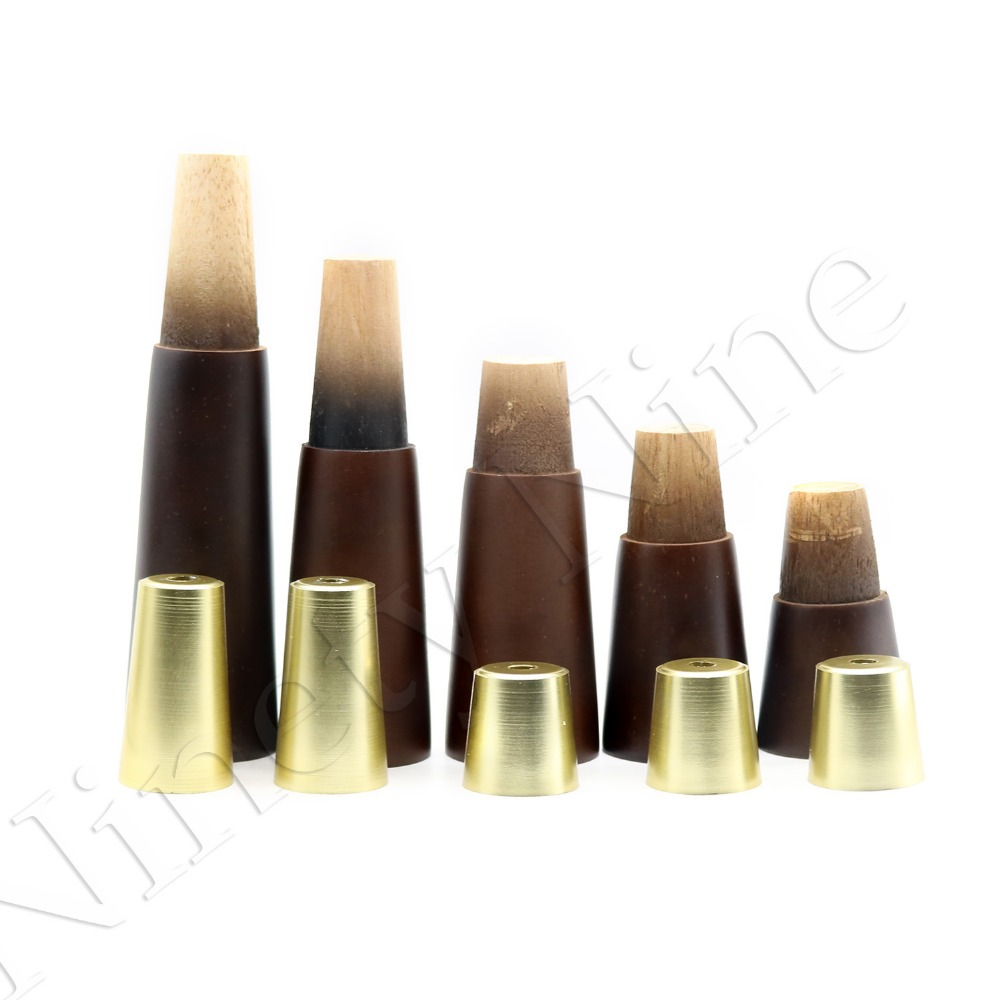 Image 2 - 4Pcs Walnut Color Natural Wood Reliable Wood Walnut Furniture Leg Cone Shaped Wooden Feet for Cabinets Soft Table-in Furniture Legs from Furniture