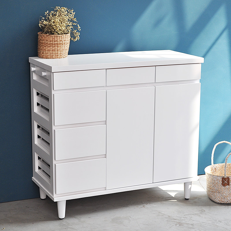The More Luxuriant Wooden Sideboard Tea Cupboard Cabinets Wine Storage Cabinets  Japanese Mobile Fruit And Vegetable Lockers In Sideboards From Furniture On  ...