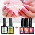Any 3 Color + Top Base Coat Nail Gel Polish UV Led Lamp Shining Colorful Color Gel Lak Vernis Semi Permanent Gelpolish Esmalte