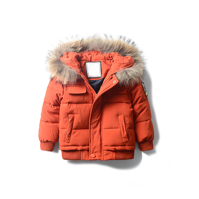 New Fashion Warm Boys Winter Clothes Fur Collar Jacket Children Clothing Windbreaker Jackets Casual Hooded Boys Thick Warm Coat women winter jacket fashion warm fur collar jacket casual solid thick hooded winter clothes luxury gift for lover