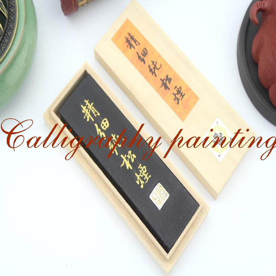 62g Fine pure pine Soot InkStick HuKaiWen Brush Ink Calligraphy Painting Sumi-E set 8 pc painting fine line gongbi sumi e brushes 8 pc gongbi painting books