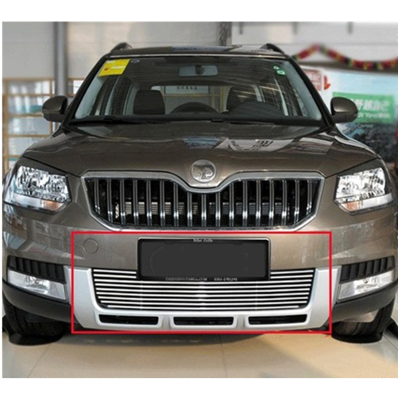 High quality stainless steel Front Grille Around Trim Racing Grills Trim For 2013 Skoda Yeti stainless steel car racing grills for mazda cx 5 2013 2016 front grill grille cover trim car styling