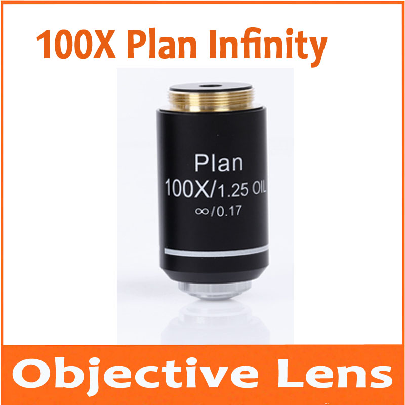 100X Infinity Plan Achromatic Objective Lens for Educational Lab School Olympus Biomicroscope Biological Microscope 20.2mm