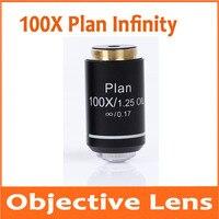 Aletler'ten Mikroskop Parçaları ve Aksesuarları'de 100X Infinity Planı Renksiz Objektif Lens Eğitim Laboratuvarı Okul Olympus Biyomikroskop Biyolojik Mikroskop 20.2mm