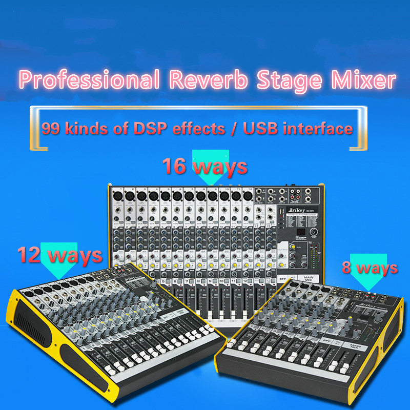8CH*30W 12CH*35W 16CH*35W MIXER With USB stage mixer Amplifier audion DJ Public stage tuning Party mixer with multiple links
