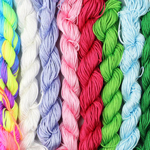 JHNBY 1mm Satin Rattail Beading Nylon Chinese knot braided Rope Cord Thread String DIY Necklace Bracelets Jewelry Making Finding недорого