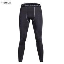 Bodyboulding yishida hombres pantalones de yoga pantalones mallas medias de compresión para hombre deportes masculinos apretados pantalones pantis anti fatiga