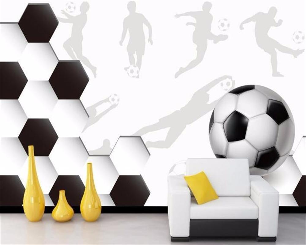 Купить с кэшбэком Beibehang Custom any size wall paper sports soccer large mural wallpaper 3 d living room 3d wallpaper papel de parede wallpaper