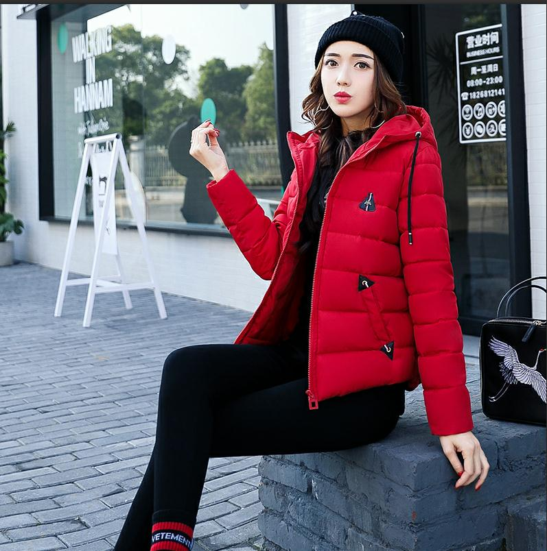 2017 Women Cotton Padded Winter And Autumn Clothes Short Section Slim Hooded Small Cotton Jackets Parkas Outwear M/3Xl K436 aporia as original design women autumn winter fashion novelty slim rivets floral 3d print patchwork short cotton padded jackets