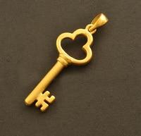 999 24K Yellow Gold 3D Key Pendant 1.61g