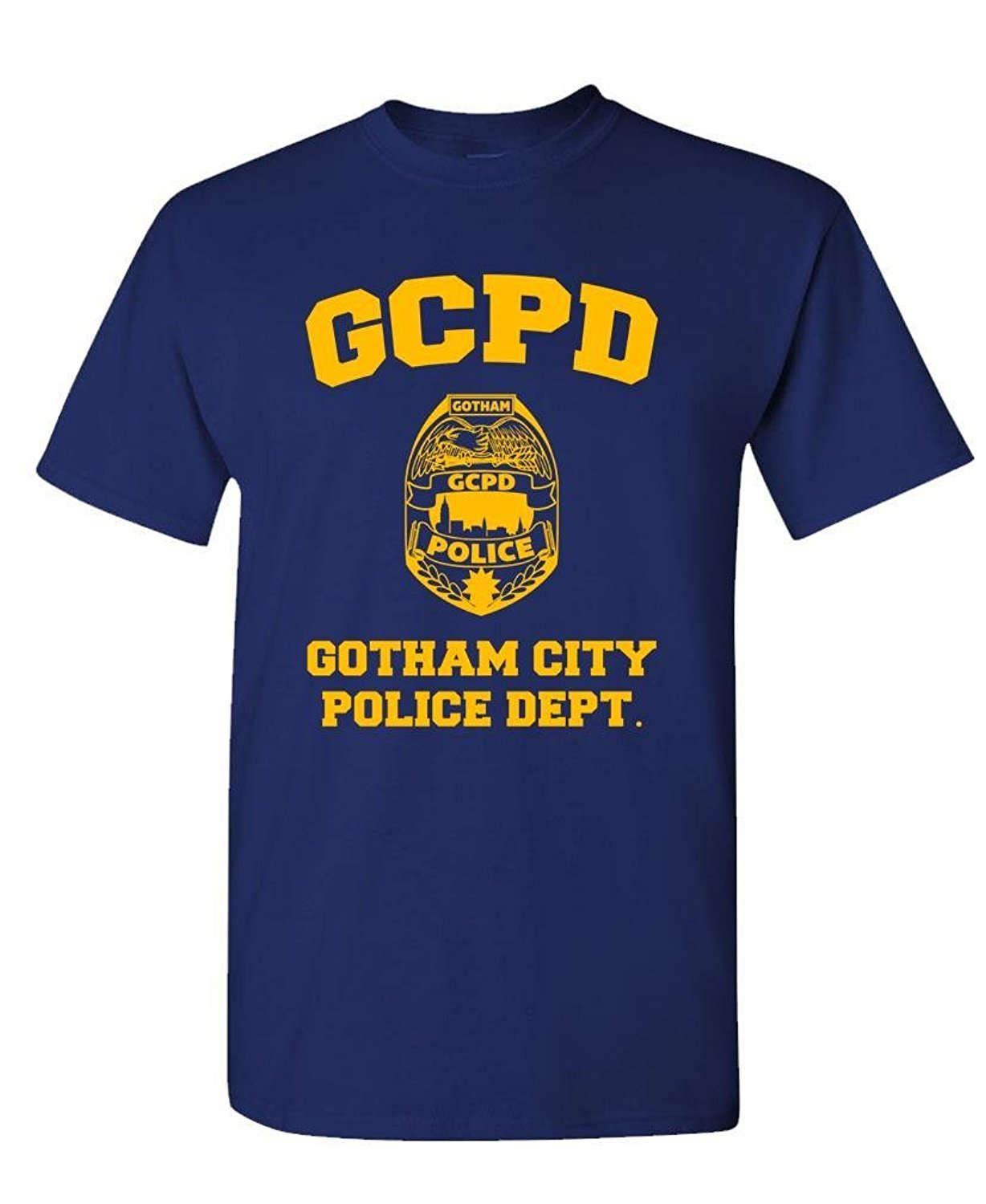 Men 2019 Brand Clothing Tees Casual Designing T Shirt Gcpd Gotham City Police Dept - Arkham Game - Mens Screen Printing T Shirts image