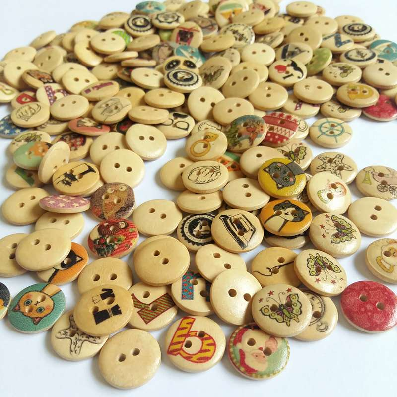Objective 50pcs Christmas Holiday Wooden Collection Snowflakes Buttons Snowflakes Embellishments 18mm Creative Decoration Home & Garden Apparel Sewing & Fabric