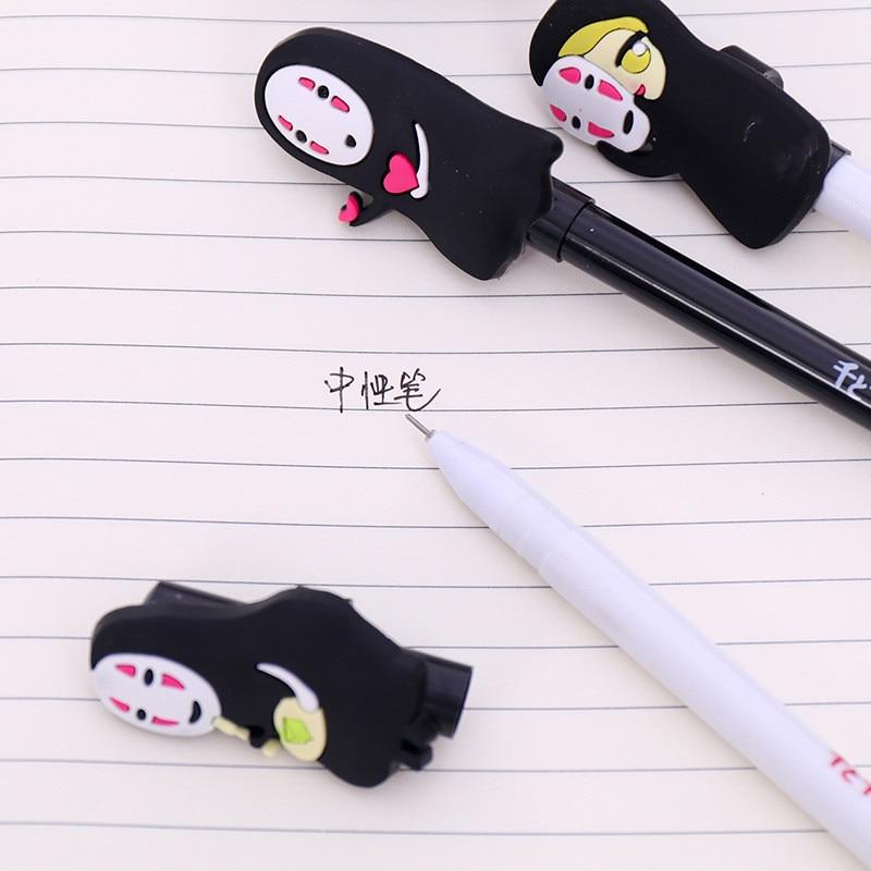 Creative Cute Spirited Away Gel Pens Hayao Miyazaki School Anime Thing Kawaii Stationery Store Bts Item Stationary Material Shop