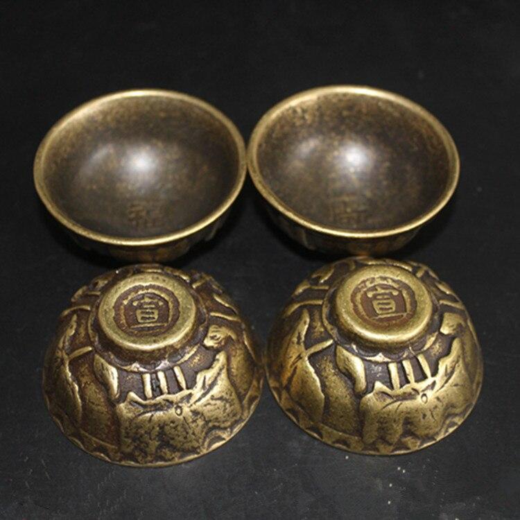 Divers antiquités collection fortune bol rétro bol ensemble quatre fond Xuan.