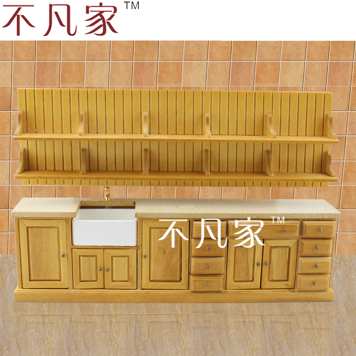 Fine 1/12 scale miniature furniture well made handcrafted high quality lovely kitchen set умка обучающий планшет winx club 60 программ умка