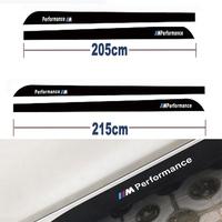 Car Styling M Performance Side Skirt Stripe Sticker For BMW X5 E90 E60 F30 F10 F15