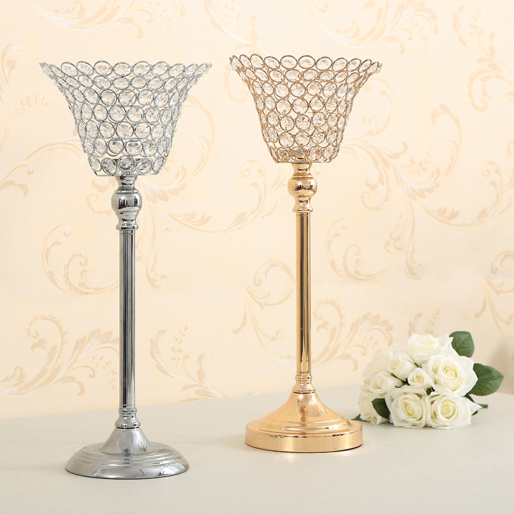 Wedding road column flower vase pillar candle holders for