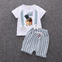 Explosions  2019 new Baby Boys Clothes Sets Spring Summer Fashion T-shirt + Shorts Newborn children Girl Clothing Kids Suits