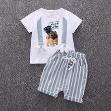 цены на Explosions  2019 new Baby Boys Clothes Sets Spring Summer Fashion T-shirt + Shorts Newborn children Girl Clothing Kids Suits  в интернет-магазинах