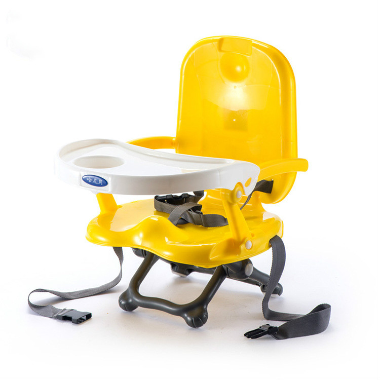 Portable Baby Feeding Chair Non slip Booster Seat with Safety Bracket Three point Seat Belt Multifunction Kids Dining Armchair