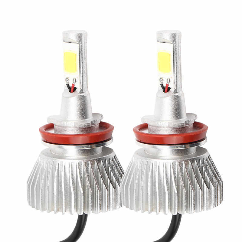 Super Bright C6 H8/H9/H11 60W LED Headlights Automotive Front Bulbs Car Headlamp 6000Lm Fog Light Lamp 6000K White Light