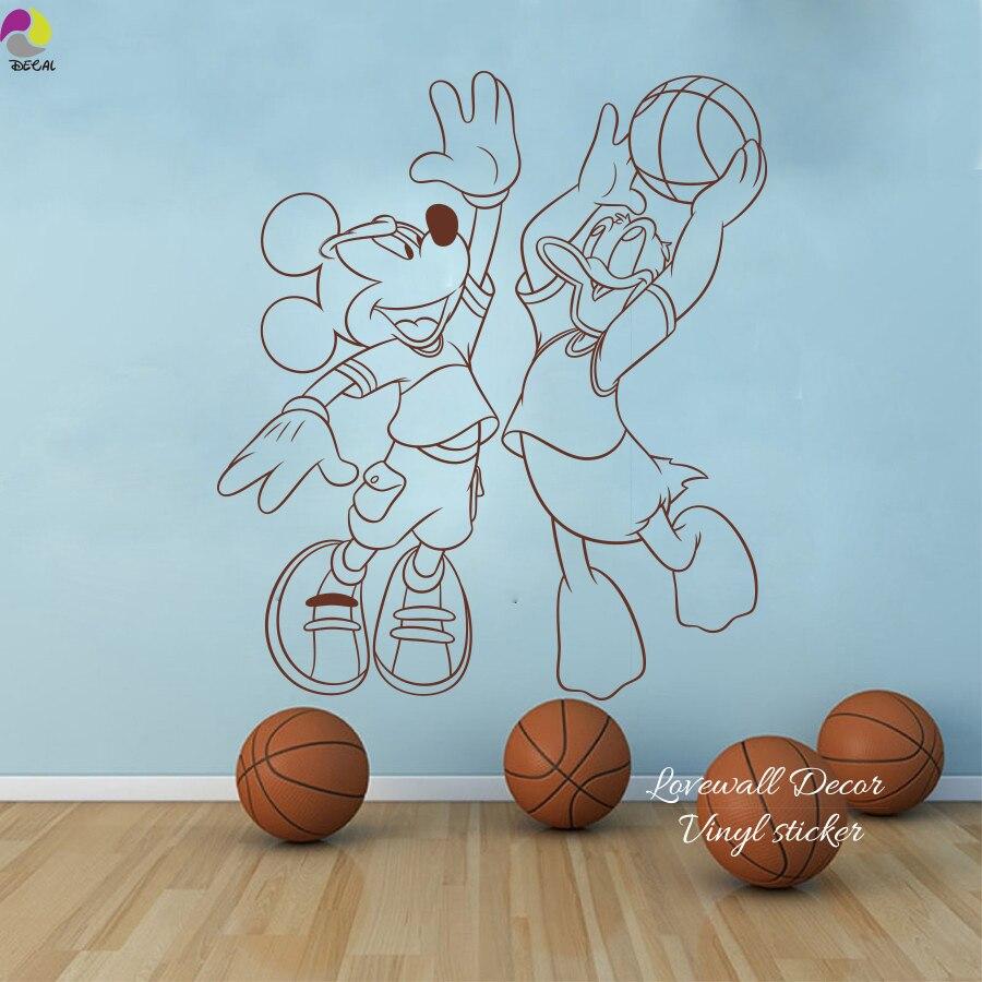 Faszinierend Wandtattoo Basketball Referenz Von Cartoon Minnie Te Tier Sport Für Baby