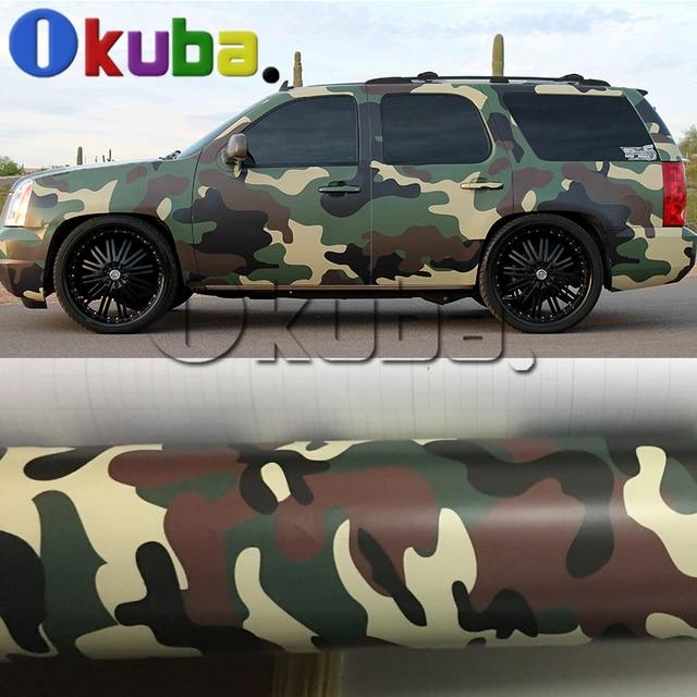 Woodland Camouflage Aufkleber Vinyl Auto Wrap Self Adhesive Film
