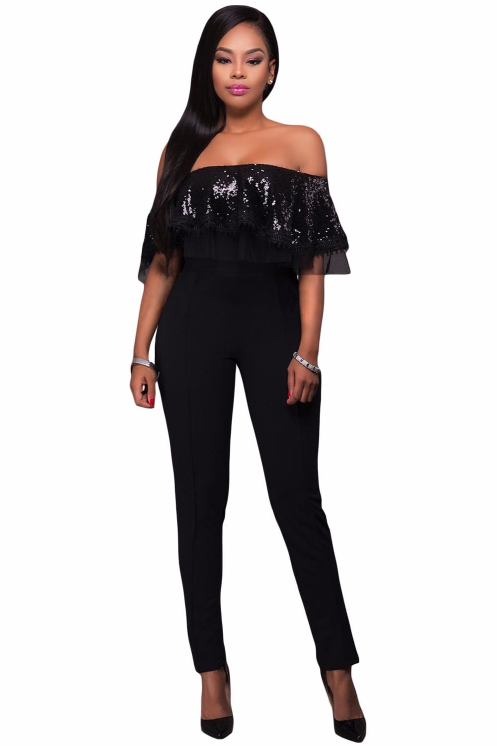 Black-Sequin-Ruffle-Top-Jumpsuit-LC64249-2-1