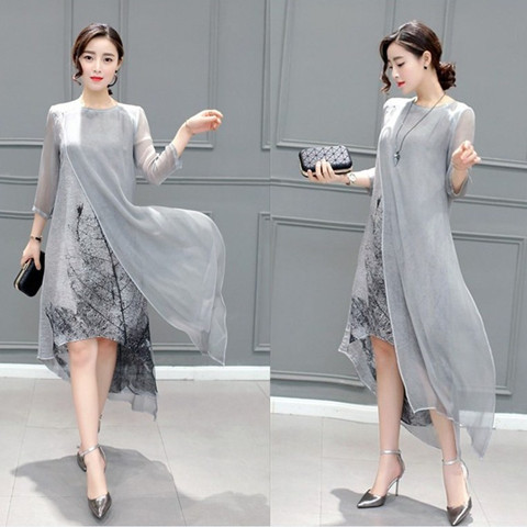 Fashion 2021 Free Shipping New Spring Summer Women Work Wear Cotton Linen Dresses Folk Art Ink Print Casual Slim Dress Retro 6