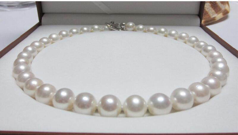 free shipping >>Huge 1812mm natural South Sea genuine White round Pearl Necklace AAA