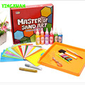 HAPPYXUAN  Master of Sand Art Painting Gift Box Kids 6 Bottles Color Sand Sets Educational Drawing Toys Children