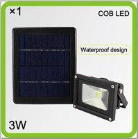 Manufacturer Solar 3W HIGH BRIGHT COB LED Flood Light Led Courtyard Light Led Projector 2000mah Li