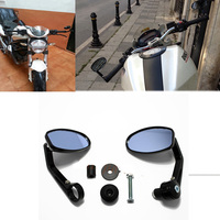 Handlebar Aluminum Rear View Mirror End Motor Side Mirrors Motorcycle Accessories Cafe Racer For Suzuki Bandit