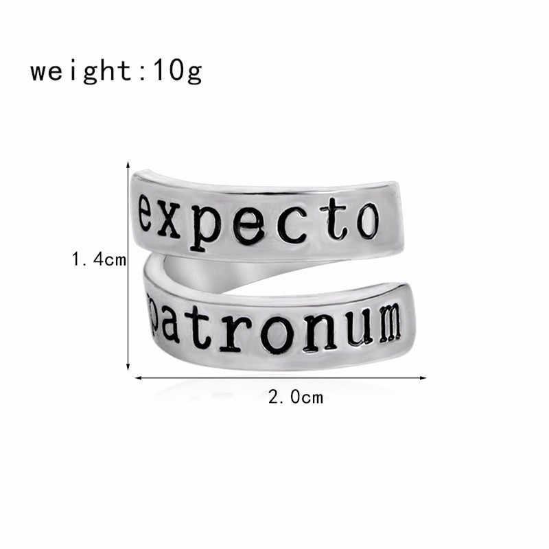 Экспекто Патронум витой кольцо для Для женщин Для мужчин серебристый цвет Регулируемый Открытие двойные кольца модные ювелирный подарок на палец