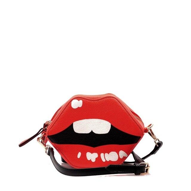 SEXY LIPS CROSSBODY BAG - Women s Fashion Halloween Party Devil Cosplay  Funny Cute Red Wristlet Clutch Novelty Bag Purse Handbag 1f2e29b49
