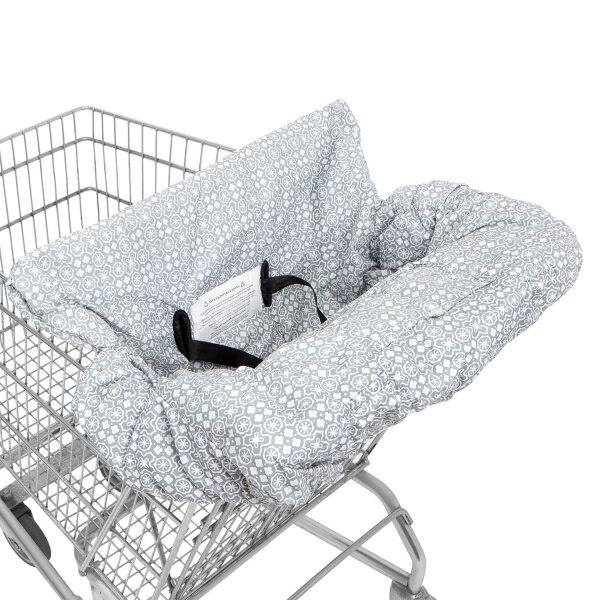 10 видов стилей серый чехол для детской тележки с рыбками, чехол для коляски, подушка для сиденья, детский чехол для стульев, защитная складная подушка в полоску - Цвет: Waterproof Gray Big
