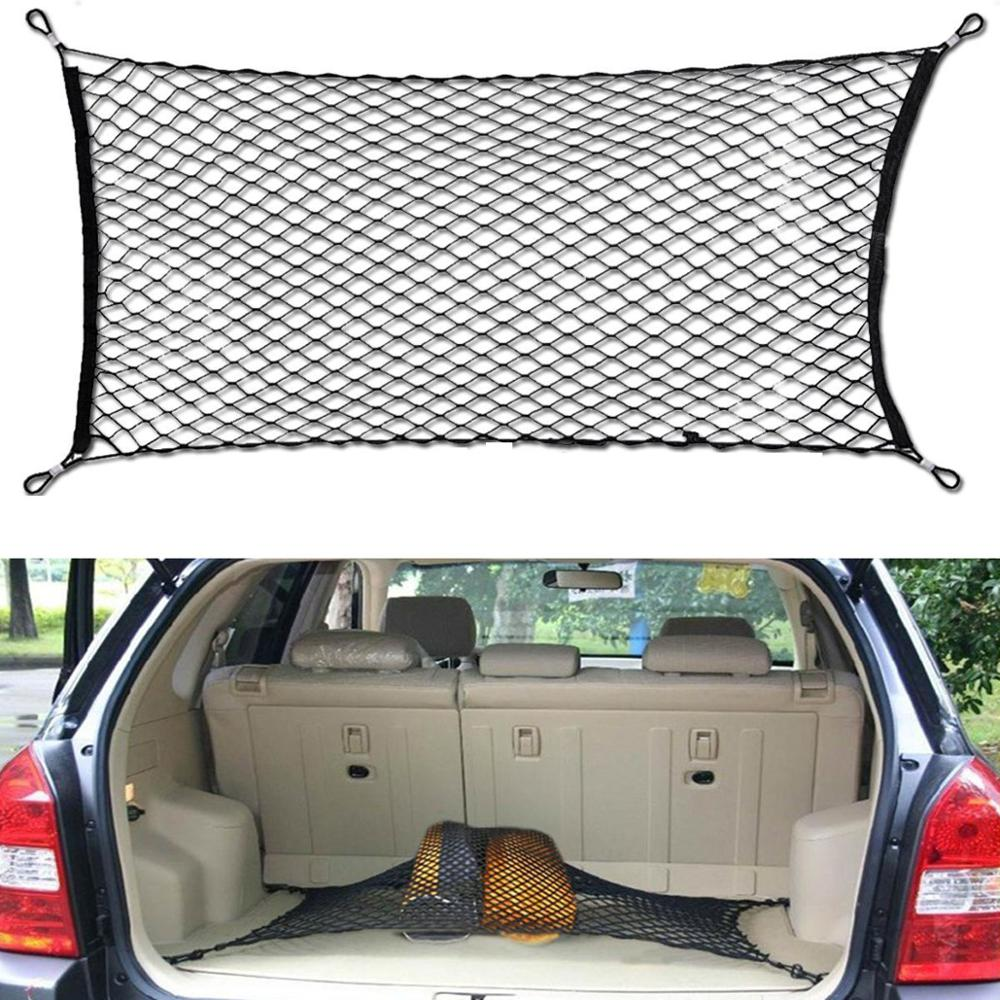 Car Auto Trunk Mesh Organizer 110x60cm Luggage Stuff Cargo Goods Fix Storage Holder Net Universal Accessories-in Stowing Tidying from Automobiles & Motorcycles