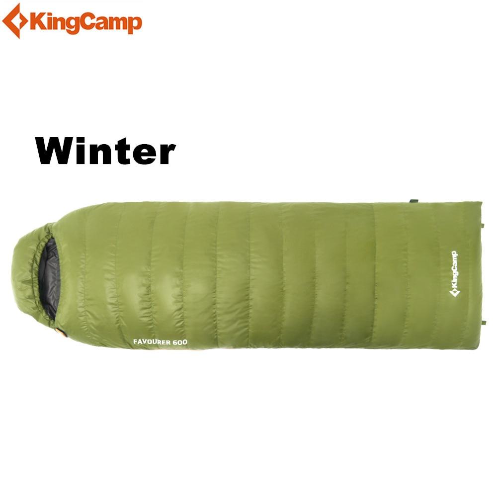 KingCamp Ultralight duck down Hiking Sleeping Bags Outdoor Winter Camping Adult Waterproof Sleeping Bags kingcamp портативное складное ведро для лагеря досуга пикник вне дома 8l
