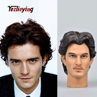 Orlando Bloom head scout soldier military 1:6 scale action figure accessories sculpt shape male head sculpture F 12 Phicen doll