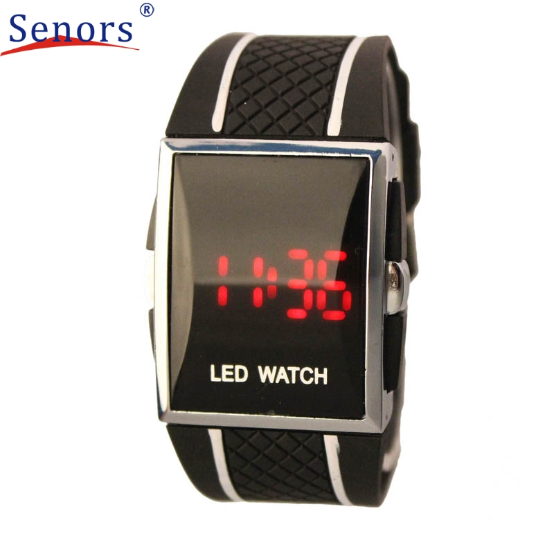 Superior Boy Men Stylish LED Digital Date Silicone Band Sports Wrist Watch August 4