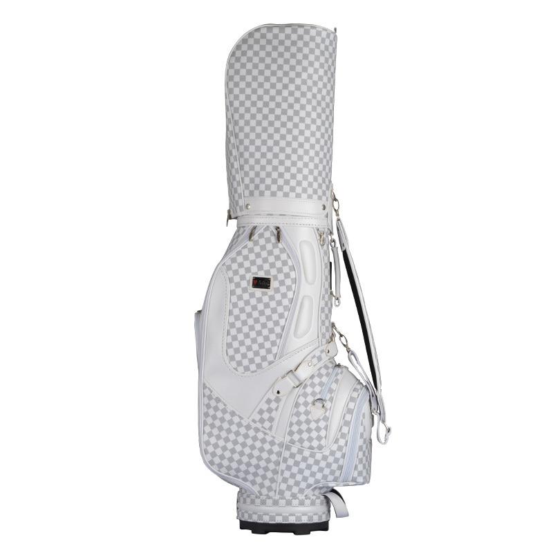 márka PGM Golf állvány kosár caddy táska golf eső takaró kockás Vintage táska Super Anti-súrlódás PU golf cart táska személyzet golf táskák