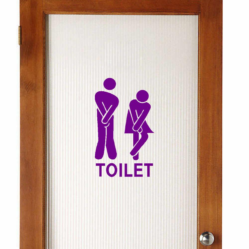Có thể tháo rời Dễ Thương Người Đàn Ông Người Phụ Nữ Nhà Vệ Sinh Nhà Vệ Sinh WC Sticker Gia Đình TỰ LÀM Trang Trí Nội Thất