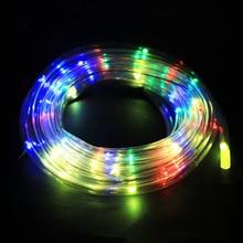 Tira de luces LED impermeable para jardín exterior, Navidad, decoración para fiesta de boda, lámpara de iluminación, manguera de Año Nuevo, luz de cuerda flexible